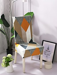 cheap -High Quality Printed Magic Cube Spandex Chair Covers For Dining Room Chair Cover For Party Chair Cover For Wedding Living Room Chair Covers