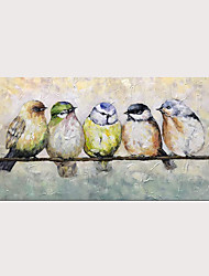 cheap -Oil Painting Hand Painted Horizontal Animals Pop Art Modern Stretched Canvas