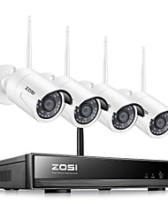cheap -ZOSI H.265 Wireless NVR 8CH CCTV System 1080P Indoor Outdoor Security Camera System With 1080P WiFi Cameras IP66 Waterproof With Mobile&PC Remote Night Vision Survilliance Without Hard Drive