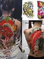 Недорогие -1 pcs Временные татуировки Защита от влаги / Безопасность / Лучшее качество Корпус / назад Наклейка для переноса воды Краски для рисунков на теле