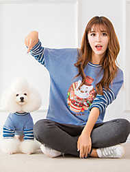 cheap -Dog Costume Sweatshirt Matching Outfits Quotes & Sayings Character Casual / Sporty Fashion Sports Casual / Daily Dog Clothes Breathable Red Blue Costume Cotton Women M Women L S M L