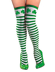 cheap -Irish holiday socks st Patrick's day shamrock green party stockings ball dress stockings 2 pairs