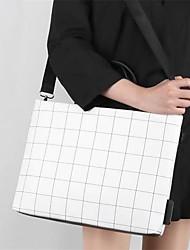 cheap -Women Notebook Ipad Bag Plaid PU Leather Messenger Handbag Fashion lattice shoulder Computer bags