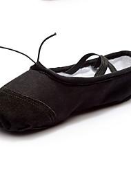 cheap -Women's Ballet Shoes Canvas Flat Flat Heel Dance Shoes Black / Red / Pink