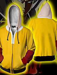 cheap -Inspired by ONE PUNCH-MAN Cosplay Cosplay Costume Hoodie Polyster Patchwork Patchwork Hoodie For Men's / Women's