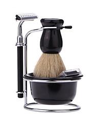 Недорогие -Shaving Sets & Kits Лицо Аксессуары для бритья Влажное и сухое бритье Металлические / Нержавеющая сталь + пластик