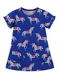 cheap -Kids Girls' Floral Dress Blue