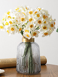 cheap -6 Branch High Simulation Daffodil Home Decoration Concise Style Concise Style Hand Tied Bouquet