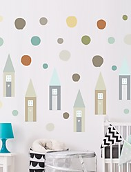 cheap -Decorative Wall Stickers - Plane Wall Stickers Little Houses Nursery / Kids Room