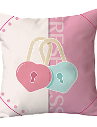cheap -1 pcs Polyester Pillow Cover Young Girl Heart Pink Lovely Modern Sofa Pillow Case Pillow Soft Cushion Simple Style Car Office Cushion