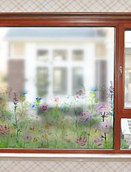 Недорогие -Растения и цветы узор матовая оконная пленка цеплять винил теплоизоляция защита частной жизни домашнего декора для окна двери шкафа стикер / наклейка окна