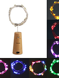 cheap -1pcs Included Battery 2M 20LED Cork Shaped LED String Garland silver Wire Fairy Lights for Glass Craft Bottle Christmas Valen
