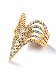 cheap -Women's Ring tiny diamond 1 Piece Gold Gold Plated Geometric Stylish Wedding Party Daily Wear Jewelry Geometrical Flower