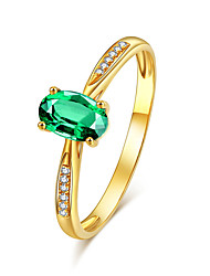 cheap -Women's Ring AAA Cubic Zirconia 1pc Gold Platinum Plated Alloy Stylish Daily Jewelry Cute
