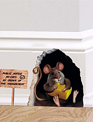 cheap -Funny Decorative Wall Stickers - Plane Wall Stickers Animals Nursery / Kids Room 12*17.4cm
