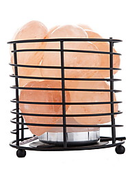 Недорогие -в форме сердца из светодиодов гималайский очистки воздуха соляная лампа высокий металлический корзина ночник творческий usb 1 шт.