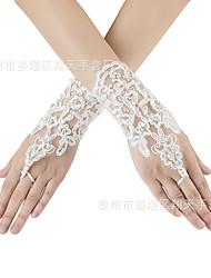 Недорогие -Перчатки Без пальцев Satin Назначение Невеста Косплей Хэллоуин Карнавал Жен. Бижутерия Модное ювелирное украшение