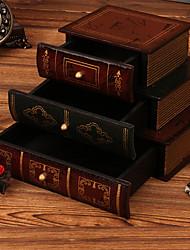 Недорогие -Шкатулка - деревянный Коричневый 21 cm 15 cm 14.5 cm / Жен.