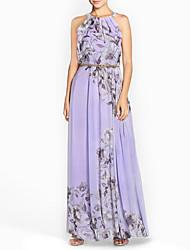 cheap -Women's Elegant Sheath Dress - Geometric Purple Blushing Pink Blue S M L XL