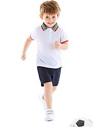 cheap -Kids Boys' Basic Color Block Short Sleeve Clothing Set White