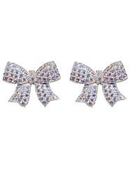 cheap -Women's Earrings Geometrical Fashion Stylish Earrings Jewelry White Bowknot For Holiday Daily Wear 2 Piece