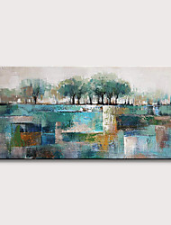 cheap -Oil Painting Hand Painted - Abstract Landscape Modern Rolled Canvas