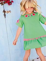 cheap -Kids Girls' Floral Dress Green