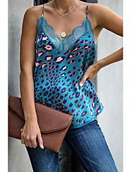 cheap -Women's Daily Basic Tank Top - Leopard Print Brown