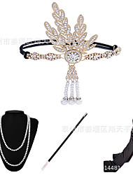 cheap -The Great Gatsby Head Jewelry Necklace Retro Vintage 1920s The Great Gatsby Alloy Gloves Necklace Outfits For Prom Party / Cocktail Halloween Carnival Women's Costume Jewelry Fashion Jewelry
