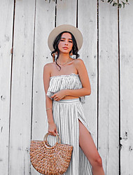 cheap -Women's Elegant Sheath Dress - Solid Colored White S M L XL