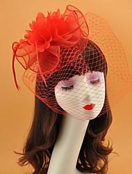 cheap -Net Fascinators with Feather 1 Piece Wedding / Horse Race Headpiece