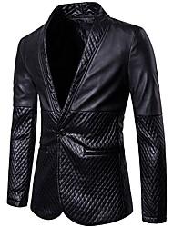 cheap -Men's EU / US Size Blazer Shawl Lapel Polyester Black