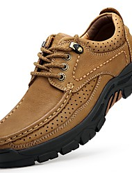 cheap -Men's Comfort Shoes Leather Fall & Winter Athletic Shoes Hiking Shoes Brown / Light Brown