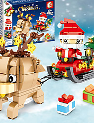 cheap -Building Blocks 200-400 pcs Santa Claus Christmas Santa Suits compatible ABS+PC Legoing Simulation All Toy Gift / Kid's