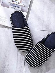 cheap -Women's Slippers / Men's Slippers Guest Slippers / House Slippers Stripes / Ripples Polyester hello beautiful Shoes