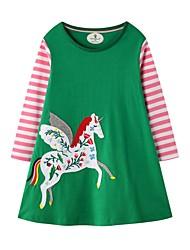 cheap -Kids Girls' Animal Dress Green