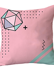 cheap -1 pcs Polyester Pillow Cover Light Pink Department of Art Nordic Classic Simple Geometry Living Room Sofa Pillow Cushion Back Bedroom Pillow Cover