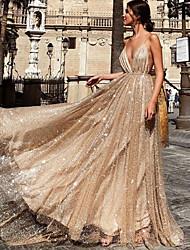 abordables -Diva Rétro Vintage Disco Années 80 Robe Femme Costume Argent / Abricot Vintage Cosplay Soirée Sans Manches