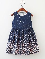cheap -Kids Little Girls' Dress Animal Navy Blue Dresses