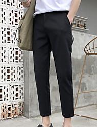 cheap -Men's Basic Chinos Pants - Solid Colored Black US32 / UK32 / EU40