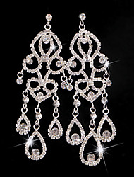 cheap -Women's Synthetic Diamond Hoop Earrings Classic Love Classic Vintage Imitation Diamond Earrings Jewelry White For Wedding Party 1 Pair