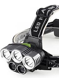 Недорогие -Налобные фонари Водонепроницаемый 200 lm Светодиодная лампа LED 5 излучатели с зарядным устройством Водонепроницаемый Портативные