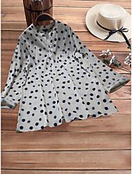 cheap -Women's Plus Size Polka Dot Loose Shirt Daily White