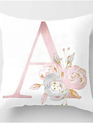 cheap -Set of 1 Polyester Pillow Cover Nordic Throw Pillow Ins Light Luxury Letter Sofa Cushion Living Room Domestic Backrest Cover Modern and Simple Car Cushion