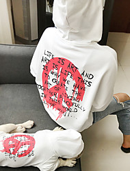 cheap -Dog Cat Costume Hoodie Matching Outfits Quotes & Sayings Punk Fashion Sports Casual / Daily Dog Clothes Puppy Clothes Dog Outfits Warm White Black Red Costume for Girl and Boy Dog Cotton Women M XS S