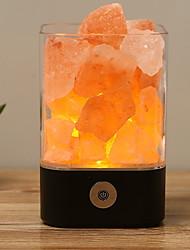 cheap -LED Himalayan air purifying Salt Lamp Natural Crystal Salt Lamp Decoration Light Creative USB 1pc