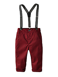 cheap -Kids Toddler Boys' Basic Street chic Solid Colored Overall & Jumpsuit Wine