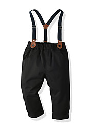 cheap -Kids Toddler Boys' Basic Street chic Solid Colored Overall & Jumpsuit Black