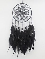 cheap -Boho Dream Catcher Handmade Gift Wall Hanging Decor Art Ornament Craft Feather Bead 40*15cm for Kids Bedroom Wedding Festival