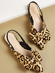 cheap -Women's Sandals Print Shoes Wedge Heel Pointed Toe Suede Spring & Summer Brown / Leopard